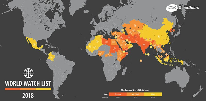 50 most dangerous countries for christians over 200 million 50 most dangerous countries for christians over 200 million experience high level persecution gumiabroncs Images